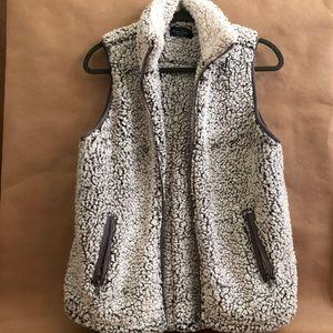 How Cute! | Sherpa Zipper Vest